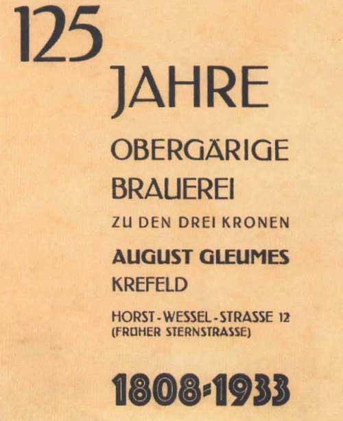 125 Jahre Brauerei Gleumes